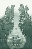les 3 arbres, gravure de Jean-Pierre Humbert